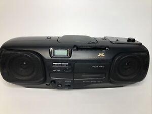 JVC RC-X320 SUPER BASS AM FM CASSETTE CD RADIO BOOMBOX 90s Black