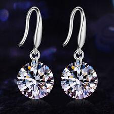 Elegant Fashion  Silver Women Girl Crystal Rhinestone Ear Stud Earrings Silver
