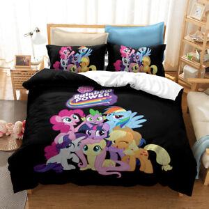 Cartoon My Little Pony 3D Bedding Duvet/Quilt/Doona Cover Sets Pillowcase D