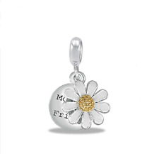 Db15-7 - Buy 2 or More, Save 10% DaVinci Beads My Mother, My Friend Flower Charm