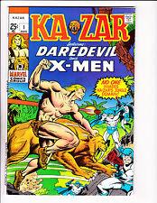 Ka-zar No 1 1970 Ka-zar / Saber-Tooth Tiger Cover!