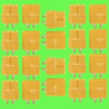 20pcs (10 Paires) XT60 Courant haute tension Prise De Akku En Nylon d'or Lipo