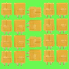 ► 20 Stk (10 Paar) XT60 Hochstrom Stecker Buchse Akku Nylon Goldstecker Lipo NEU