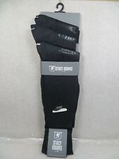 NEW WITH TAG 3 PAIRS GIFT PACK STACY ADAMS MENS  BLACK SILKY RIBBED CREW SOCKS