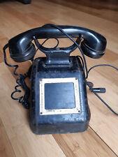 Altes Siemens OB-33 Kurbeltelefon, Telefon, Fernsprecher, Bakelit, Streckentel.