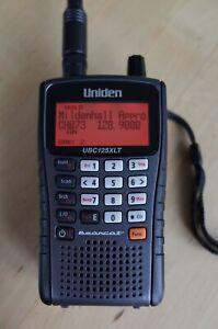 Uniden Bearcat UBC125XLT 500 Ch handheld scanner, with Diamond RH771 antenna