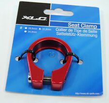 Mountain/Road Bike Seat Post Clamp 31.8mm for 27.2mm Seatpost, Red