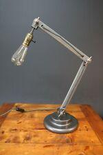 Industrial Design Table Lamp Wood Angle LED Filament Bulb Decor Desk Table