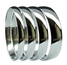 950 Platinum D Shaped Wedding Rings Medium UK HM 2mm 3mm 4mm 5mm 6mm Bands H-Z
