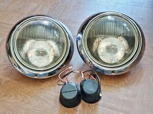 PORSCHE 911 912 901 HEADLIGHTS HELLA 165 SB-AT 12 HELLA 44/60 CR CIBIE 51 LAMPS