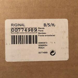 NIB Bosch Thermador Part 00774989 Panel OEM 774989