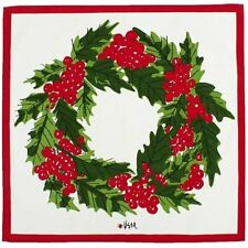 "Vera Neumann Table Linens, Set of 4 19"" square Wreath Napkins NEW"