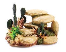 Desert Cactus Rock Aquarium Fish Tank Ornament Reptile Terrarium Decoration