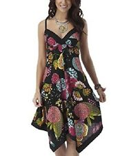 JOE BROWNS COPACABANA FLORAL SUMMER DRESS - SIZE MEDIUM (UK 12) - BLACK/MULTI.