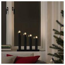 Ikea Strala Led 4 Arm Candelabra Black Holiday Christmas Decor