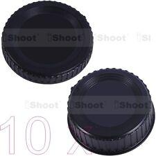 10x Kamera Gehäusedeckel + Rück Objektivdeckel für Nikon DX FX DSLR SLR & Linse