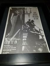 The Voices Kick It In Rare Original Radio Promo Poster Ad Framed!