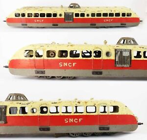 Train echelle O AUTORAIL BUGATTI SNCF / jouet ancien antique toy marescot