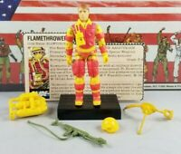 Original 1984 GI JOE BLOWTORCH V1 ARAH Complete UNBROKEN figure & file Cobra