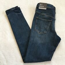 Mossimo 00 Regular High Rise Skinny Jeans Medium Wash Power Stretch