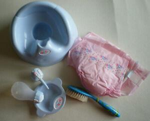 Baby Born - Zubehör neu: Töpfchen, Windeln, Flasche, Teller