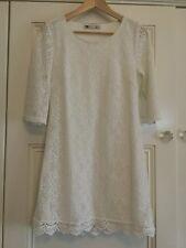Temt Size M ( Snug Fit - Small? ) Cream Lace Dress