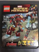 New Lego 76031 Marvel Super Heroes The Hulk Buster Smash NISB Retired Set