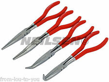 "Set of 4 - 11"" Long Mixed Pliers with Storage Bag"