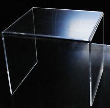 Tavolo Tavolino Salotto Plexiglass Trasparente 40x47x40 Design Moderno