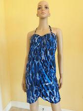 NIKIBIKI blue leopard print dress size L