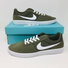 Nike SB Classic (Men's Size 8) Skateboarding Shoe Olive White Skate Sneaker