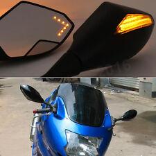 Black LED Turn Signals Mirrors For Honda CBR1100XX CBR 1100XX Super Blackbird US