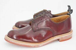NEW | $850 TRICKERS x TODD SNYDER UK 11 US 11.5 D BURGUNDY SHELL CORDOVAN DERBY