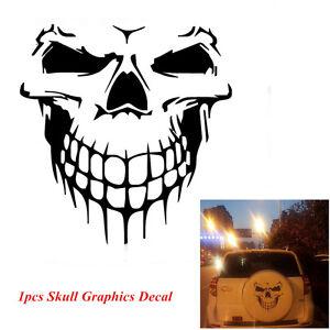Car SUV Pickup Body Roof Door Large Skull Skeleton Graphics Vinyl Decal Sticker