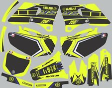Vibrant Highlighter YAMAHA GRAPHICS  YZ 250f YZ250f 2000 2001 2002 Blue
