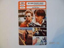 CARTE FICHE CINEMA 1991 MY OWN PRIVATE IDAHO River Phoenix Keanu Reeves