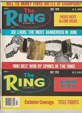 "THE RING MAGAZINE ""THE RING CHAMPIONSHIP BELT WON BY LEON SPINKS"" JULY 1978"