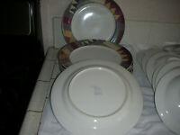 "Lot of 8 Mikasa Studio Nova ""Palm Desert"" Y 2216 - Dinner Plates Lot of 8 EC"