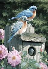 28'' x 40'' Bluebirds Spring Garden Flag Seasonal Yard Creative Banner