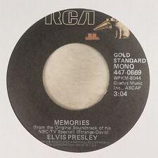 ''Memories'' by Elvis Presley, 45 RPM ©