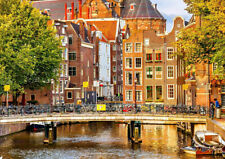 AMSTERDAM HOLLAND Canvas 20x30 Inches Framed Wall Art Ready To Hang
