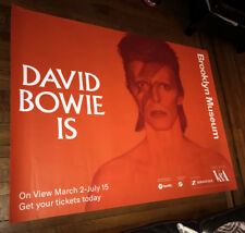 DAVID BOWIE BROOKLYN MUSEUM  5FT SUBWAY POSTER RARE