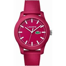 Unisex Lacoste 12.12 Watch 2010793 Pink Silicone Band
