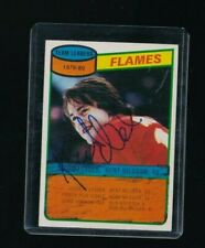 1980-81 Topps #106 Kent Nilsson Calgary Flames RC Rookie Hockey signed autograph