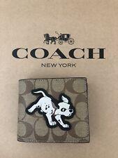 NWT Coach 91655 Disney X 3-In-1 Wallet In Signature Canvas w/ Dalmatian Admiral