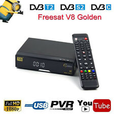 Openbox V8 Golden DVB-S2/T2/C HD Satellite AC3 Receiver Support USB WIFI  MPEG4