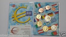 2012 GRECIA 8 monete 3,88 EURO greece grece griechenland Hellas Греция toro bull