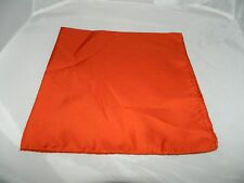 Vintage Qiana Nylon Orange Hand Rolled Handkerchief Scarf