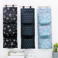 Wall Closet Hanging Storage Organizer Bag Toys Container 3 Pockets Pouch Utility
