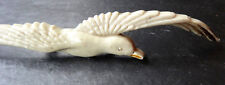 "Art Deco Vintage 3.75"" Crema Celuloide Seagull Bird Animal Broche Pin-C C152"